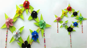diy room decor newspaper wall hanging how to make easy paper flower