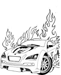 This cartoon character shows a great habit and behavior. Hot Wheels Is On Fire Coloring Page Netart