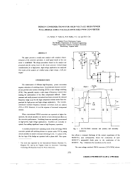 Bridge Design Considerations Pdf Design Considerations For High Voltage High Power Full
