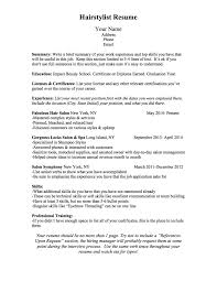 Resume Worksheet BCN Script What Should A Hairstylist Resume Look Like 48