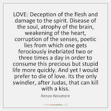 LOVE Deception Of The Flesh And Damage To The Spirit Disease Of Gorgeous Love Deception