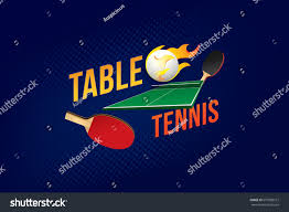Design Table Tennis Table Tennis Design Elements Vector Illustration Stock