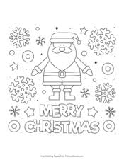 Free printable coloring pages for print and color, coloring page to print , free printable coloring book pages for kid, printable coloring worksheet. Christmas Coloring Pages Free Printable Pdf From Primarygames