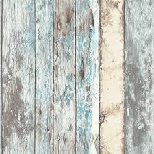 Sloophout Behang Bruin Beige Wit Blauw