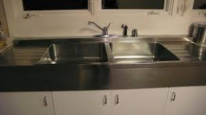 stainless steel sink with drainboard vintage