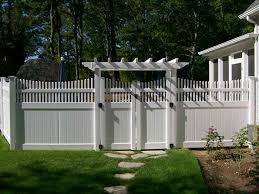 Image Yard Vinyl Arbor Fence With Gate Pinterest Vinyl Fence Gallery