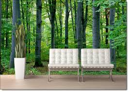 woodland forest l stick canvas wall mural