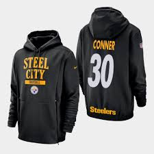 2018 James Olive Conner Hoodie Steelers - Youth To Service Salute