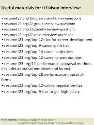 Liaison Resume Sample Topshoppingnetwork Com