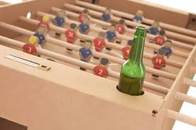 table recycled materials. Cardboard Foosball Table Design Recycled Materials