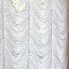 austrian roman balloon white tulle lace curtain by lovelydecor