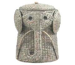rattan elephant hamper wicker elephant hamper wicker laundry basket hamper  woven elephant clothes bin lid wicker