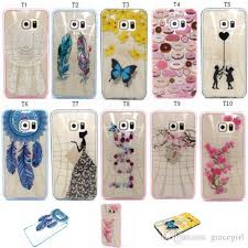 samsung galaxy s6 phone cases for girls. cool flower tpu + pc bumper hard case cartoon girl feather butterfly for samsung galaxy grand prime g530 core g360 a5 s6 edge plus s5 note 5 skin waterproof phone cases girls /