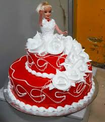 Double Deck Doll Cake Online Cakes In Jaipur Midnight Night Delivery
