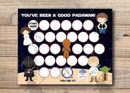 Star Wars Behavior Chart Reward Chart Star Wars Reward Chart Printable Instant