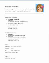 Easy Resume Examples New Simple Easy Resume Templates Sweet Looking Easy Resume Samples