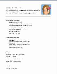 Easy Resume Examples New Simple Easy Resume Templates Sweet Looking Easy Resume Samples