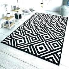 gray striped rug black and cream fancy grey area white wool
