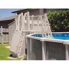 above ground pool deck kits. Vinyl Works Above Ground Swimming Pool Resin Deck Kit - Taupe 5 X Feet Above Ground Pool Deck Kits V