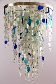 chandelier crafts seaglass chandeliers glass and gorgeous recycled also 18