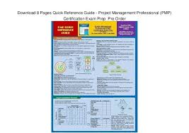 project management quick reference guide download 8 pages quick reference guide project management professio