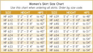 Murphy Robes Size Charts