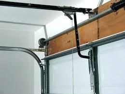 open garage door with broken spring manually