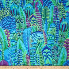 Blue And Green Decor Kaffe Fassett Feathers Green Feathers Colors And Blue And