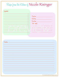 Full Page Recipe Template Free Binder Size Recipe Template Under Fontanacountryinn Com