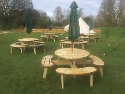 commercial grade round picnic table