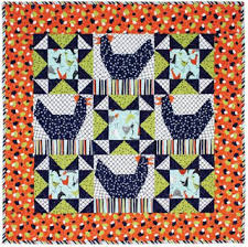Quilt Inspiration: Free Pattern Day: Chickens & Weathervane wall quilt, free pattern by Debbie Busby at All People Quilt Adamdwight.com