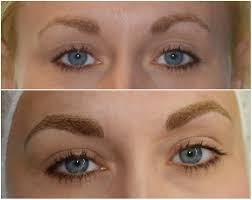 jolene after microbladed permanent eyebrows