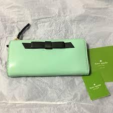 new kate spade nisha chelsea park patent leather wallet mint colour luxury bags wallets on carou