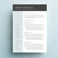 4 Page Resume Template The Rosie