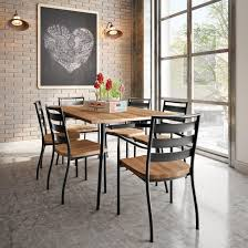 Industrial Kitchen Table Furniture Amisco Alys Table Base 50580 Tori Chair 30124 Furniture