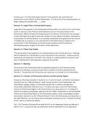 Sample Partnership Agreement Free Download