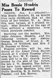 Bessie Hendrix obit - Newspapers.com