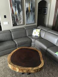 coffee table rounded edges tables thippo edge wood pleasing live natural slab corners rectangular wit