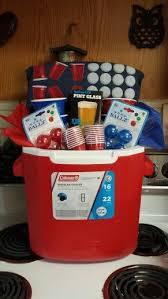 beer pong gift basket