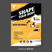 Training Flyer Templates Free Gym Flyer Template Vector Free Download