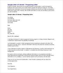 Letter Of Interest Sample