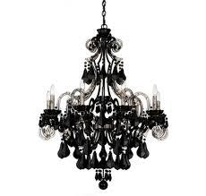 full size of lighting elegant black chandelier with crystals 17 schonbek cappela 9 light in chandeliers