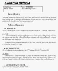 Fresher Job Resume 61 Career Objective For Resume For Fresher In It Jscribes Com