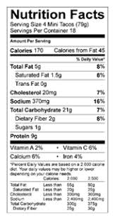 Miguel S Nutrition Chart Don Miguel Chicken Cheese Mini Tacos 56 Ct Don Miguel