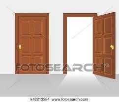 Open front door illustration Shop Building Clipart Open And Closed House Front Door Vector Illustration Fotosearch Search Clip Art Fotosearch Clipart Of Open And Closed House Front Door Vector Illustration