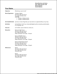 free resume format download