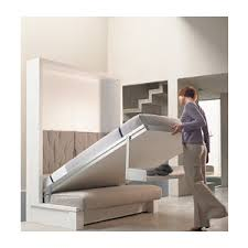 Nuovoliola fold away wall bed system with sofa and storage