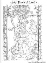 Saint Francis Of Assisi Coloring Page October 4th Feast Day