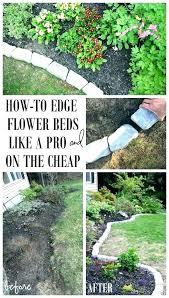 flower bed edging add to beds easy garden designs diy concrete border charming best stone