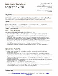 data center engineer resumes data center technician resume samples qwikresume